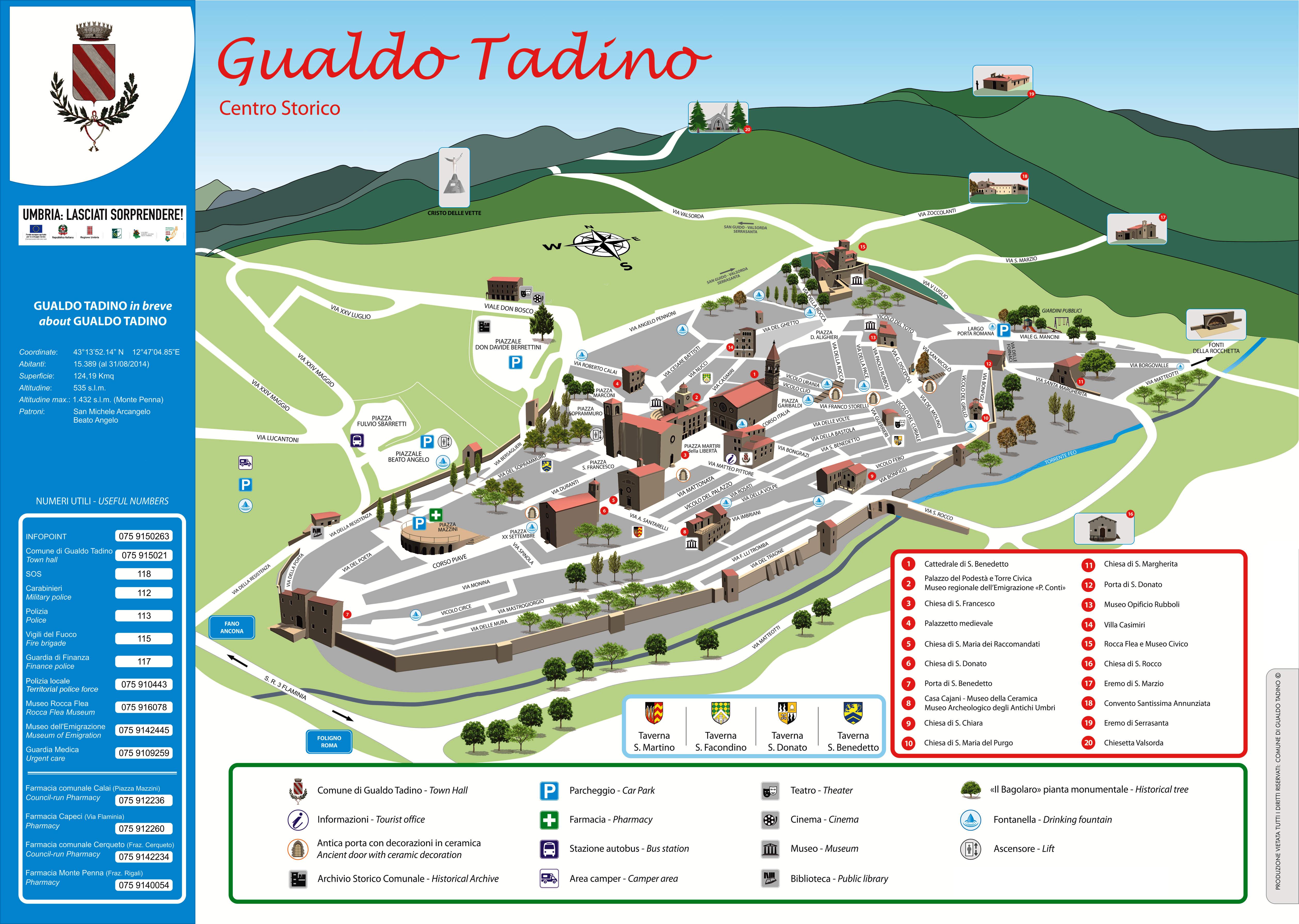Mappa Gualdo Tadino